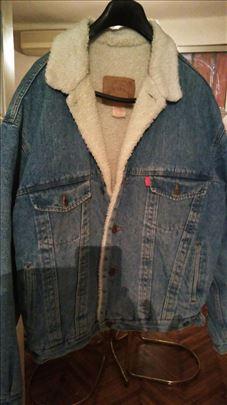 Džins jakna Diesel sa krznom
