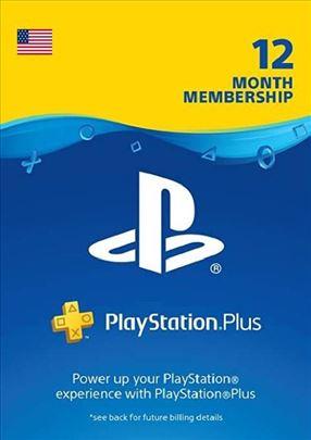 Playstation plus US 12 meseci, akcija
