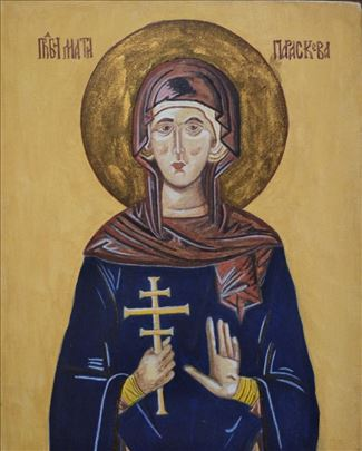 Slavska ikona Svete Petke na platnu