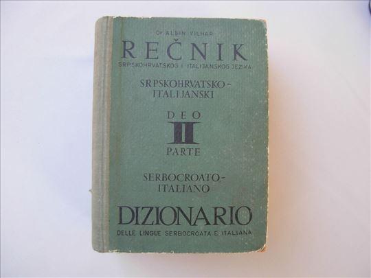 Recnik srpskohrvatsko-italijanski - Dr Albin Vilha