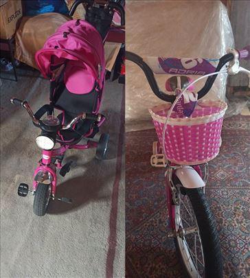 Triciklo i biciklo, kao novo nekorišćeno