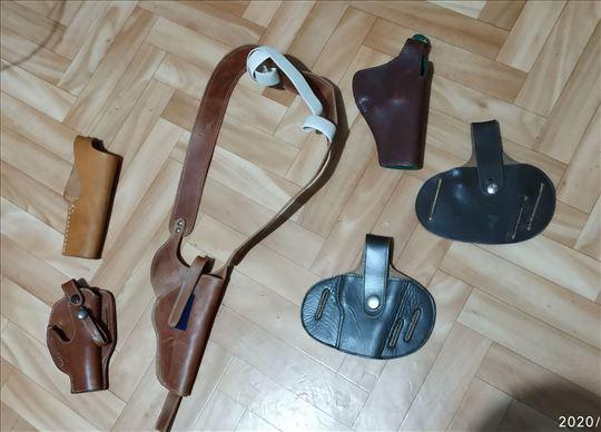 Kožne futrole za pištolje, municiju i karabin