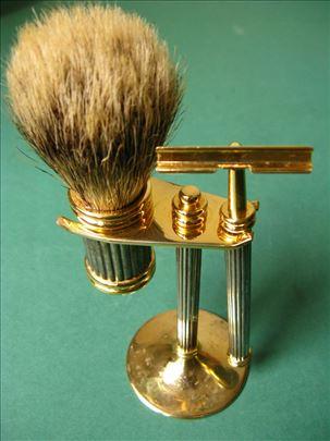Metalni Set za Brijanje - Četka od prirodne dlake