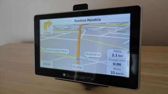 Ažuriranje mapa za  Blueberry navigacije
