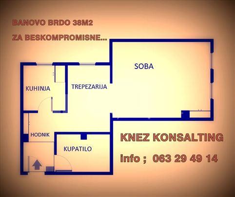 BANOVO BRDO-GOLF 38M2,CG, UKNJIŽEN, NAMEŠTEN, LUX!