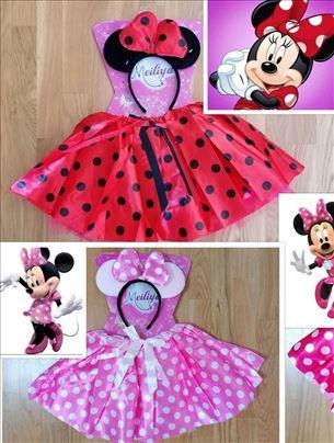 Mini Maus Minnie Mouse tutu suknjica + rajf kostim