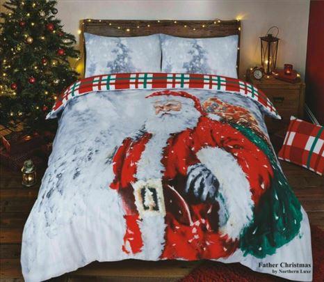 Deda Mraz novogodisnja posteljina sa 2 lica