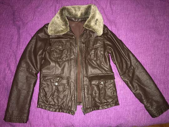 Kožna jakna za devojčice H&M