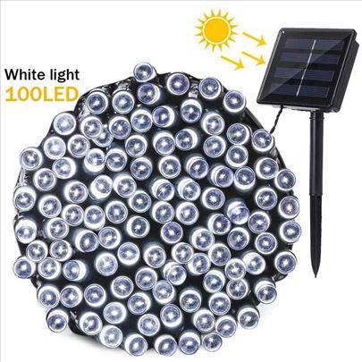 Solarne lampice Novogodisnje Vodootporne Bele
