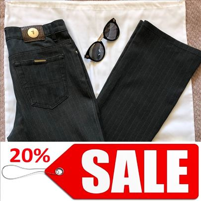 TRUSSARDI ORIGINAL sive pantalone na pruge 42 / S