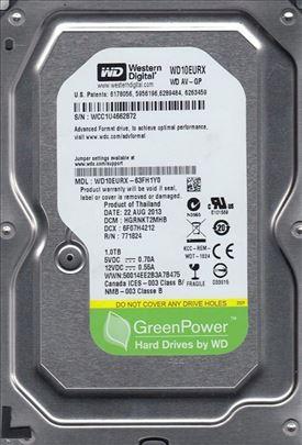 "HDD 3.5"" 1TB WD10EURX WD AV-GP Green IntelliPower"