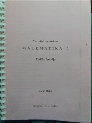 Matematika 1  -  Fizička hemija - skripta