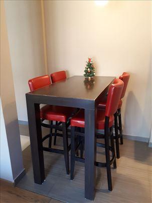 Barski/tpezarijski sto + 4 stolice