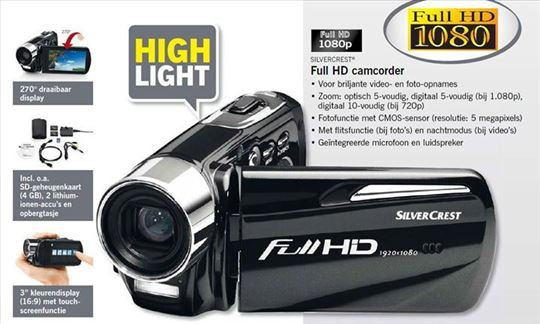 Camcoder Silver Crest full HD