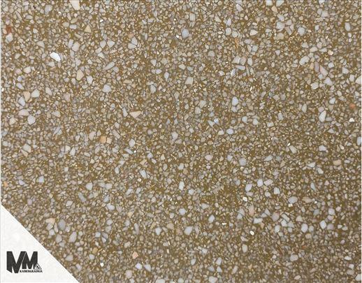 Liveni teraco. Mozaik od lomljenog mermera. Kulir
