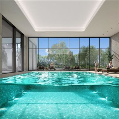 BW Terraces, frontalni pogled ka reci, bazen, lux,
