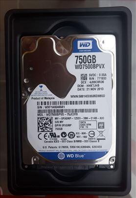 WD HDD 750 GB SATA za laptop