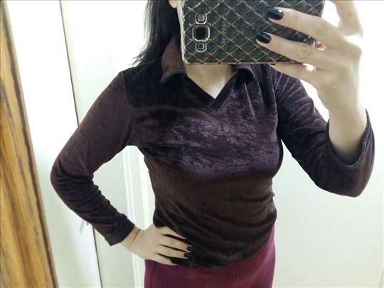 Retro plisana bluza