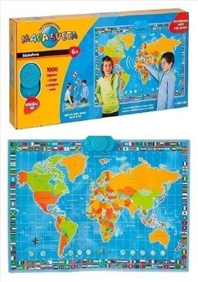 Interaktivna mapa sveta koja govori
