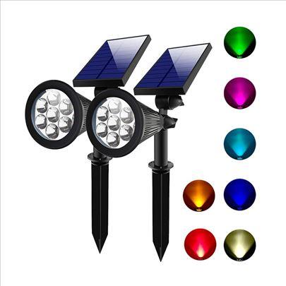 Solarna baštenska RGB led lampa vodootporna