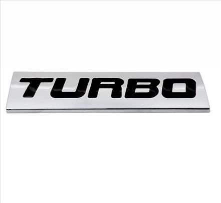 Auto znak Turbo - samolepljiv