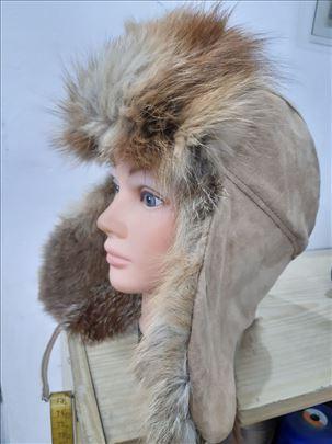 ruska kapa šubara od prirodnog krzna