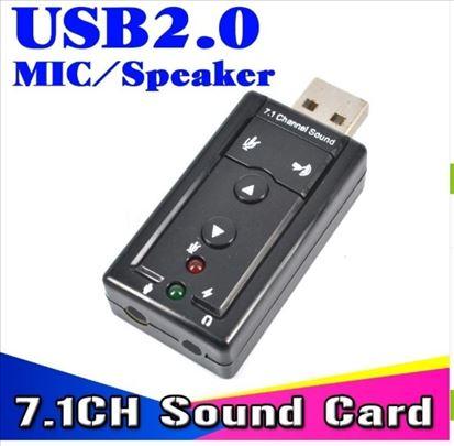 Eksterna USB Virtual 7.1 3D zvučna kartica
