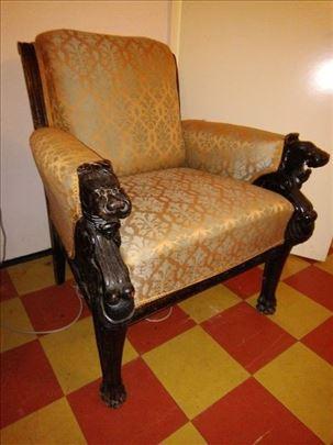 Salon GRIFONI:sofa,2 Fotelje,2 Stolice-19 vek