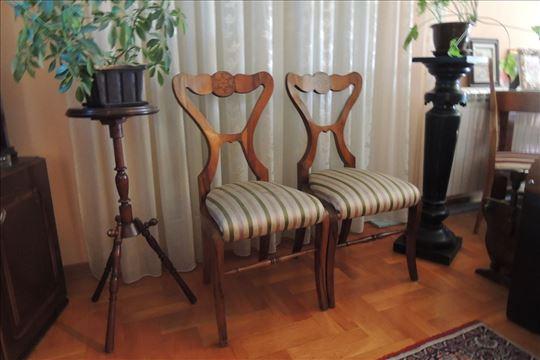 Stolice BIDERMAJER Intarzija 1830 godina
