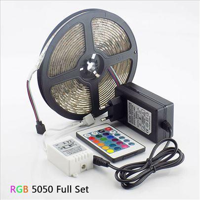 LED traka 5050 RGB 5 Metara + Daljinski