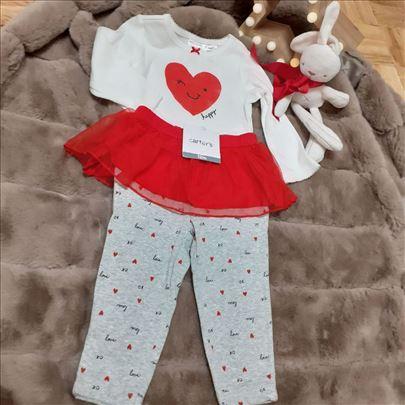 Carter's set za devojčice, velicina 12-18 meseci
