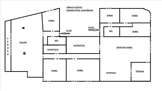 Odlična pozicija, dva spojena stana, 228m²
