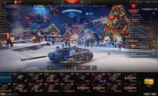 World of Tanks WOT nalog /E25/AMX 13 57/wn8 2350