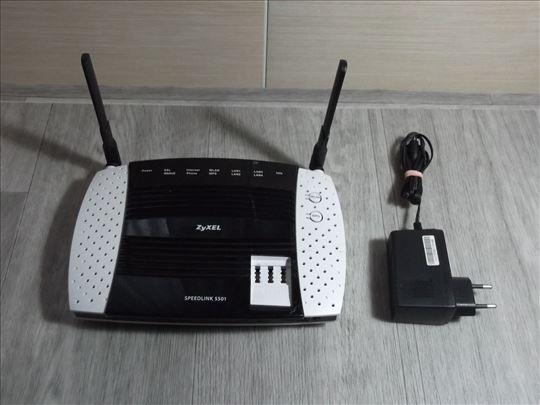 ZyXEL Speedlink 5501 Wi-Fi modem router Built-in!