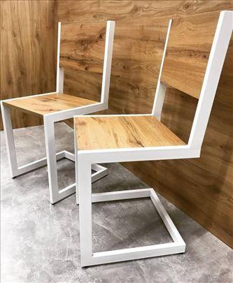 Delux trpezarijske stolice Drvo&metal