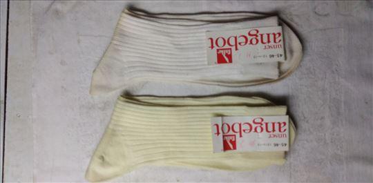 Muške čarape Falke bele pamuk vel.45-46 nove