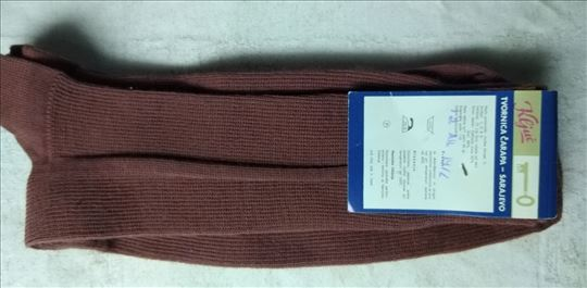 Muske carape Kljuc braon 50% vuna   vel.44 nove