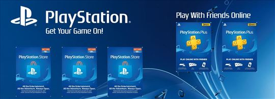 PSN Gift Card/Gift/PSN Dopune/PS4 Dopune US / UK