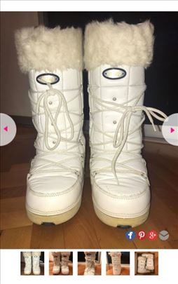 Izuzetno jeftine bele čizme za sneg