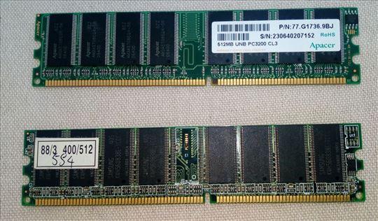 Memorije DDR1 2x512MB,400 Mhz za PC