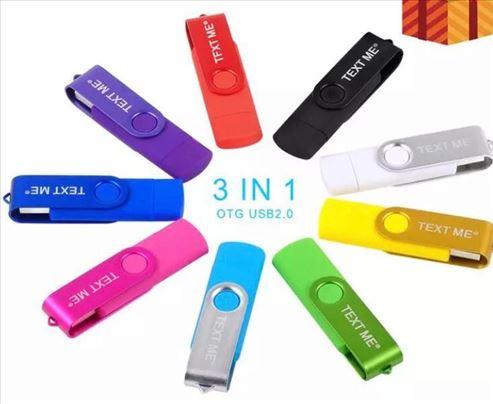 USB flash 64GB 3u1 Type C odlične i za telefone