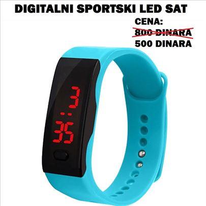 Digitalni sportski led satovi - svetlo plavi