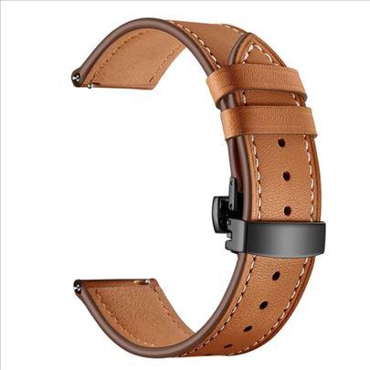 Braon kožna narukvica za Samsung Huawei smartwatch
