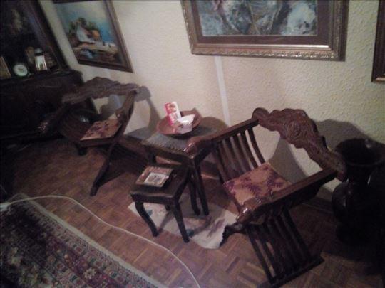 """Renesansne """"Dante"""" stolice sklapajuće 2 kom."""