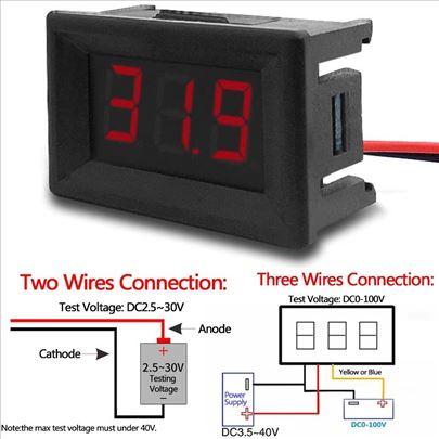 Voltemtar Ampermetar 0-100V, 0-10A DC, Voltamper