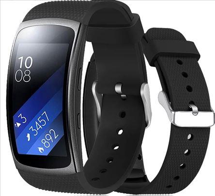Crna silikonska narukvica za Samsung Gear Fit 2