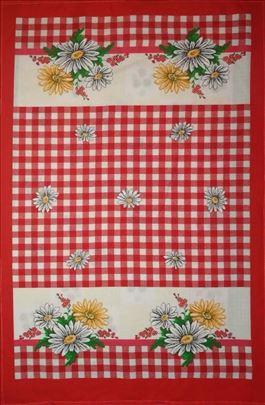 Kuhinjske krpe moldavske-cvetni kanafas crveni
