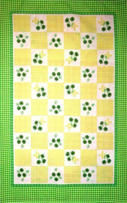 Kuhinjske krpe MOLDAVSKE -cvetni kanafas zeleni