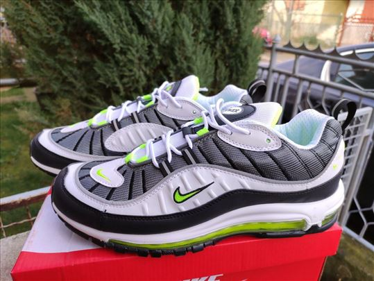 Nike Air Max 98 Belo-Sive Sa Zelenim Znakom-Vidite