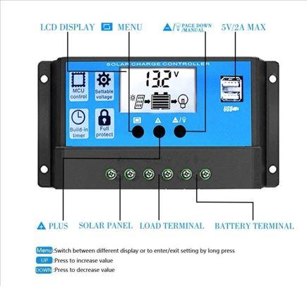 30A Solarni regulator kontroler punjenja 12/24v